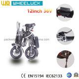 CE 36V el mejor precio de 12 pulgadas plegable la bicicleta eléctrica