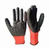 Gant enduit de sûreté de gants de latex confortable de résistance