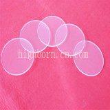 Melhor Qualidade Óptica Redonda resistentes ao calor da placa de vidro de quartzo transparente