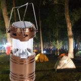토치를 가진 재충전용 야영 햇빛 램프 옥외 Portable LED 손전등