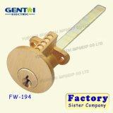 Cilindro de cerradura del aro de latón macizo