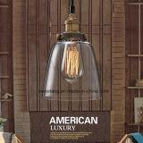Lámpara pendiente de la lámpara de cristal simple de interior para la decoración del sitio