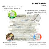浴室の装飾のための線形灰色のガラスタイルのモザイク