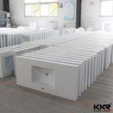 Твердые поверхностные круглые раковины ванной комнаты тазика постамента Freestanding