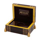 贅沢なハンドメイドのカスタマイズされた木のビロードの硬貨の記念品のギフトの包装