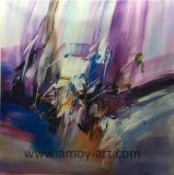 Alta calidad de lienzo de los países nórdicos el arte abstracto cuadros al óleo en color púrpura