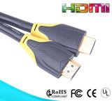 Cable plateado oro de 19pin HDMI con color doble