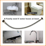 "F3/8"" * F1/2"" Faucet Connexion flexible en acier inoxydable tressé de l'eau"