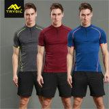 Desgaste de encargo de la gimnasia de las camisas de deporte de la camiseta de los hombres