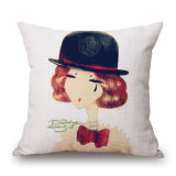 Cassa moderna del cuscino del sofà stampata Digital della signora Aquarelle Cotton Linen (35C0235)