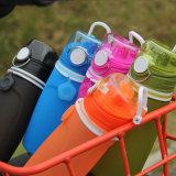 Bottiglia di acqua pieghevole della Largo-Bocca di cinque colori