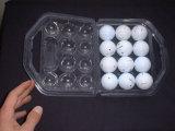Envases Tapa Bisagra Contenedor de Golf de la Caja de Golfo Plastico de Huevos huevo Tranparente Visible de la caja de embalaje