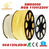 Striscia flessibile facoltativa impermeabile di SMD 5050 2835 RGB LED per esterno dell'interno