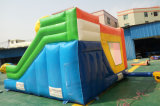 Het commerciële het Springen van het Stuk speelgoed van de Ballon Opblaasbare Kasteel van de Uitsmijter met Dia (T3-112)