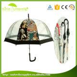 Paraguas recto transparente del Poe de la manera para la promoción