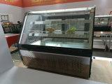 Refrigerador do anúncio publicitário do refrigerador do indicador da pastelaria do Showcase do indicador do bolo do aço inoxidável de 2 prateleiras