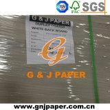Белый назад мелованной бумаги при двусторонней печати окна из бумаги при двусторонней печати
