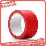 赤い粘着テープ、保護テープを塗るホーム造り