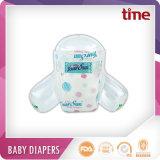 優れた品質魔法テープ通気性の布の赤ん坊のおむつ