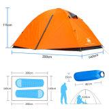 Famiglia di quattro stagioni esterna di alluminio della tenda di campeggio del Palo dei 2 della persona portelli doppi di doppio strato