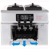 Heißer Verkaufweiche Serve-Eiscreme-Maschine für mittleres Eiscreme-Geschäft