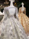 Vermelho/cinza/vestido de esfera do casamento do trem varredura do ouro