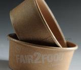 Artesanía desechables alimentos el tazón de papel personalizados