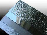 Revestido de color naranja en relieve de la placa de aluminio/hoja