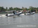 Bateaux gonflables gonflables rigides de côte de bateau de pêche de bateaux de Liya 6.6m