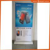 Forma de puerta directamente Stand impresión emergente muestra de tejido para publicidad