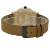 Commerce de gros de la mode de regarder les hommes et femmes de bambou bon marché à la main en cuir Logo personnalisé montre-bracelet bois