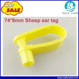 Tag de orelha de seguimento animal dos carneiros de 74*8mm para o cão/carneiros/porco