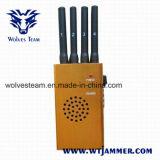 Poder superior jammer portátil do telefone do GPS e de pilha (DCS PCS 3G de CDMA G/M)