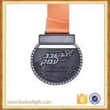 亜鉛合金の鋳造の骨董品のカスタム金属のマラソンの連続したスポーツのトロフィメダル