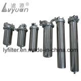 Ss 316 304 Boîtier de filtre à cartouche en acier inoxydable pour un seul élément de ronde