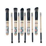 L'insieme di spazzola della Boemia professionale di trucco, fondamento sintetico di Kabuki della maniglia di legno di 10 PCS che mescola il fondamento dell'ombra di occhio di Concealer arrossisce spazzole della polvere dell'orlo