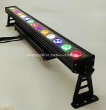 IP65는 RGBWA UV 6in1 14* 15W LED 벽 세탁기 빛을 방수 처리한다