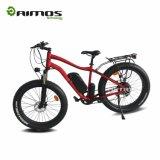 2017 bici eléctrica de fábrica del precio 26inch de la montaña gorda barata del neumático con el freno hidráulico