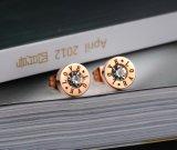 Dubbele Manier 8mm van de Stijl van de Zegel van de Liefde Nieuwe Roestvrij staal nam de Gouden Oorringen van de Nagel van de Kleur toe