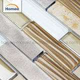 高品質の台所Backsplashのストリップのガラス石造りアルミニウムモザイク・タイル