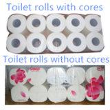 Cadena de producción del papel higiénico papel higiénico que rebobina, cortando y empaquetadora