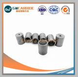 セメントで接合されていた炭化タングステンワイヤーデッサンは旋盤のために停止する