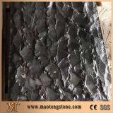 Lastricatori fiammeggiati e spazzolati del basalto nero del granito