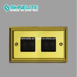 10A 4 갱 1 방법 전기 스위치 황금 색깔 스위치