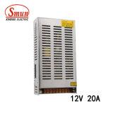 Bloc d'alimentation de S-250-12 250W 12VDC 20A DEL avec du ce RoHS
