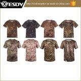 Funda militar táctica de secado rápido respirable al aire libre del cortocircuito de la camiseta de Esdy
