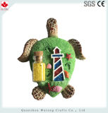 Venda por grosso de resina de Design de tartaruga artesanais frigobar Ímã