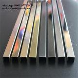 Kundenspezifische Edelstahl gebogene Ordnung der Fliese-304 für Decken-Profile