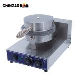 Singolo panettiere elettrico commerciale del cono di gelato dell'acciaio inossidabile del piatto