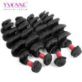 Extensão brasileira superior do cabelo humano do Weave do cabelo da classe de qualidade 8A do cabelo de Yvonne